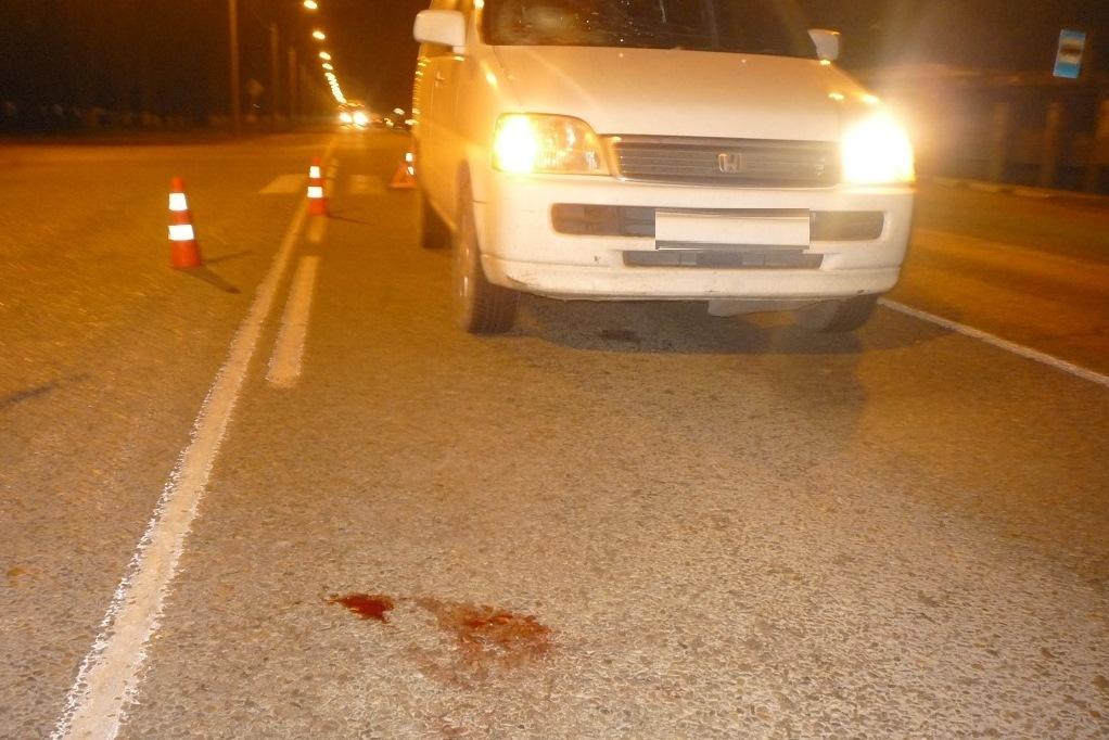 ВКавказском районе иностранная машина сбила нетрезвого пешехода