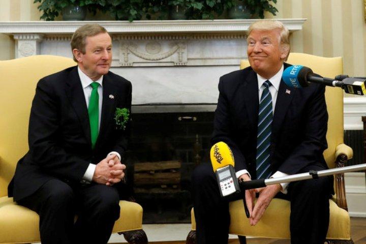 Заобедом ирландский премьер отчитал Трампа заполитику миграции