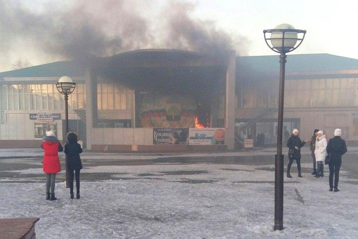 ВКузбассе насцене уличного центра творчества произошёл пожар