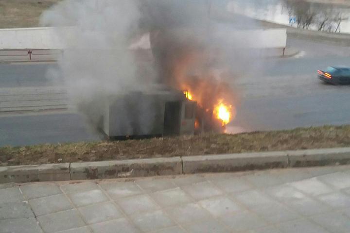 ВВитебске сгорел милицейский автозак