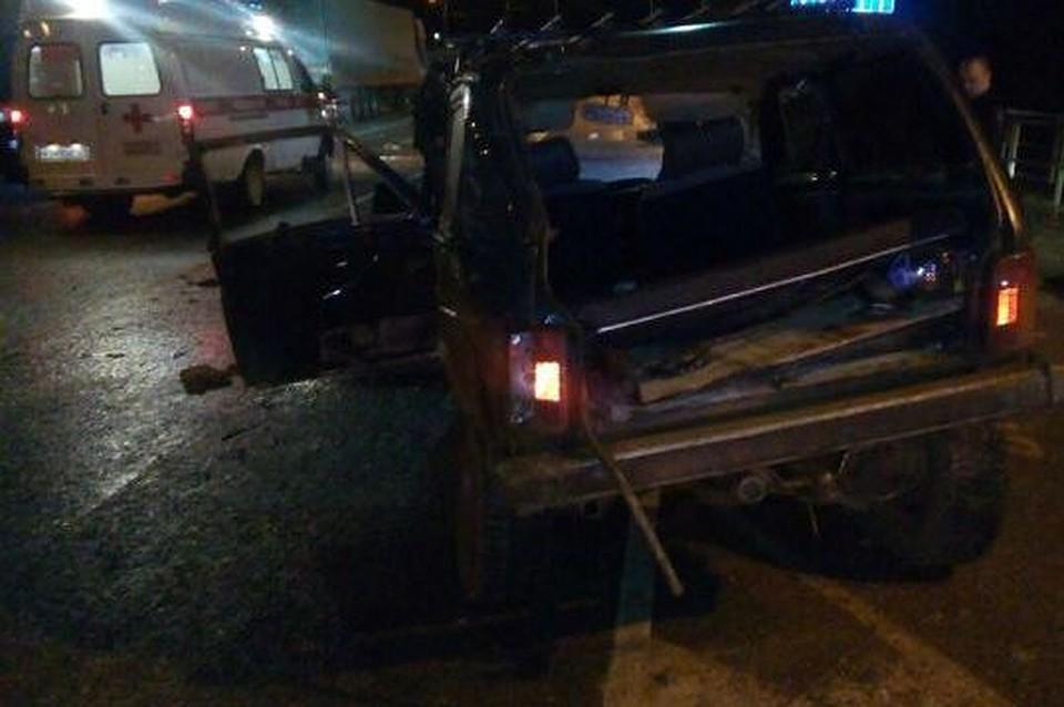 Шофёр итри пассажира «Нивы» пострадали вДТП вСеверском районе