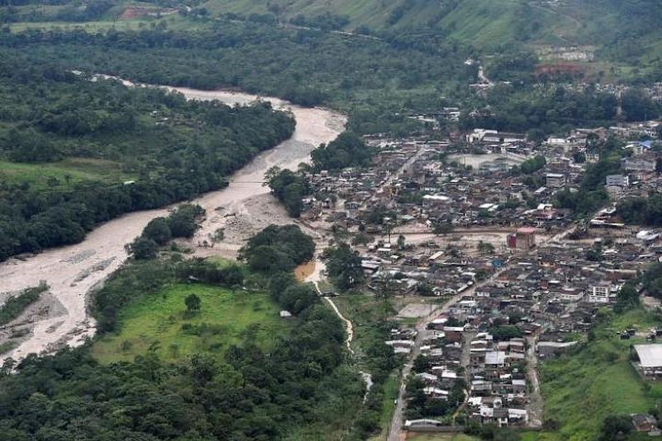 Селевой поток наюге Колумбии уничтожил несколько кварталов города Мокоа