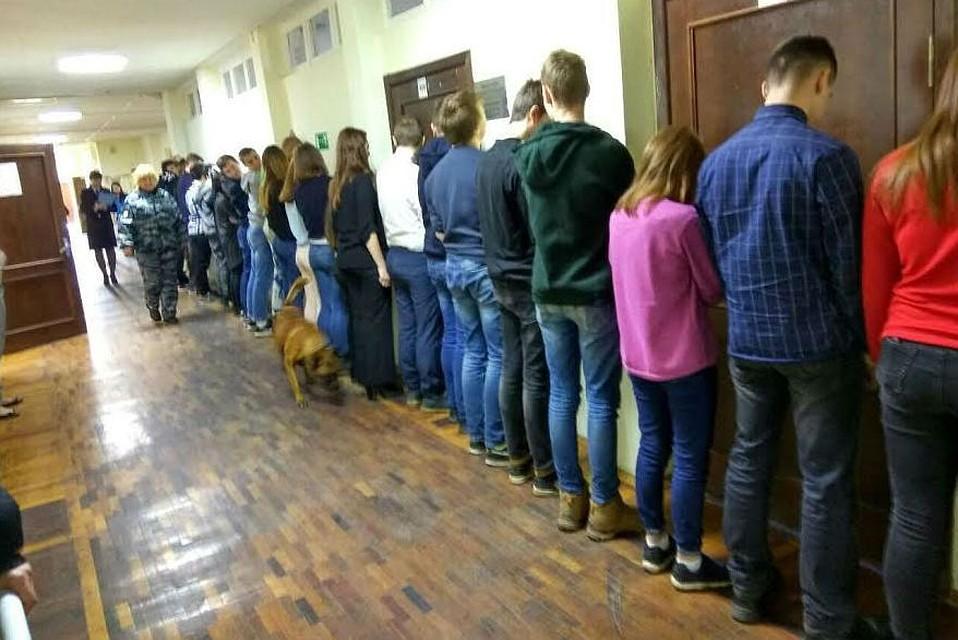 Петербуржцев возмутили дети устенки впроцессе поиска наркотиков вшколе