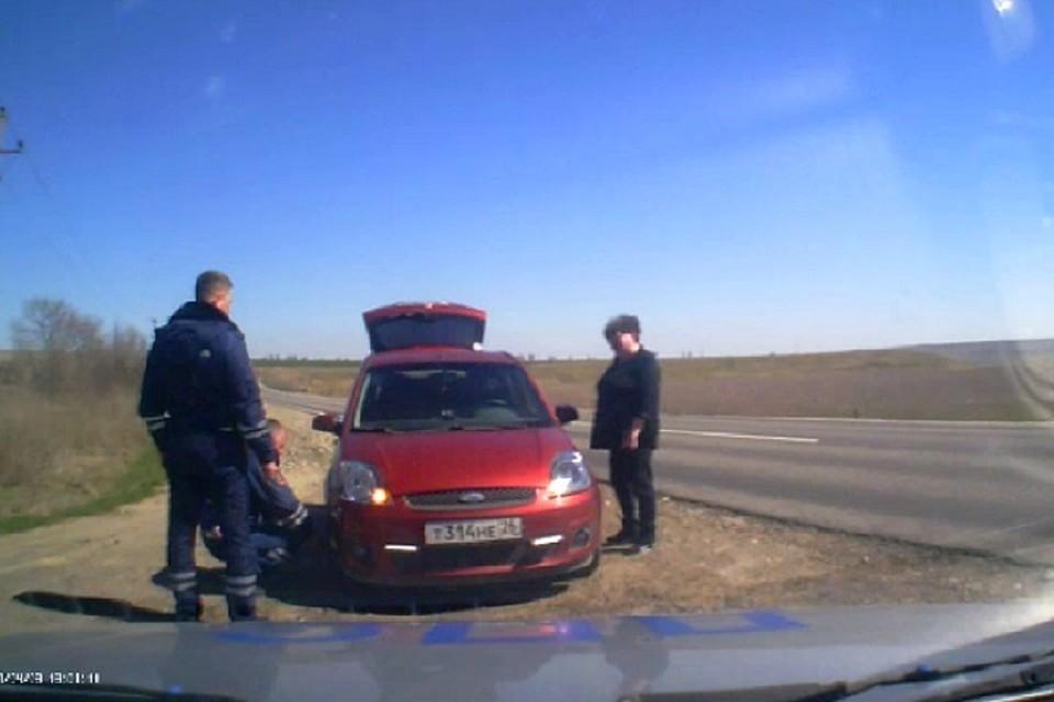 НаСтаврополье работники государственной автоинспекции предотвратили автокатастрофу