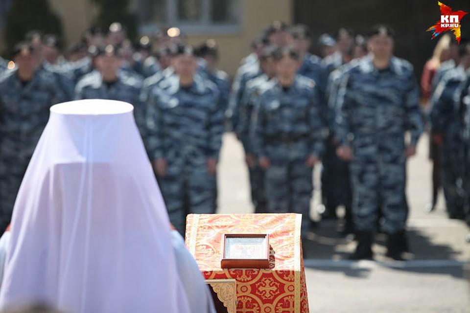 ВСтавропольском управлении Росгвардии поклонились частице мощей Георгия Победоносца