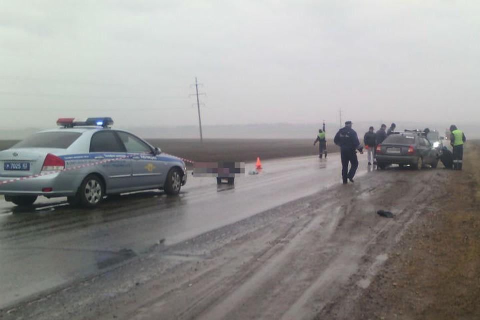 ВБашкирии шофёр Хёндай Accent насмерть сбил пешехода