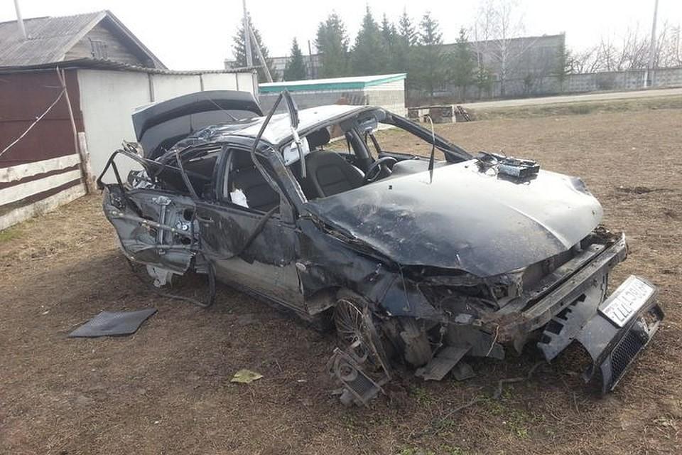 Митцубиши 2-х погибших вКанашском районе парней пару раз перевернулась— Новые детали