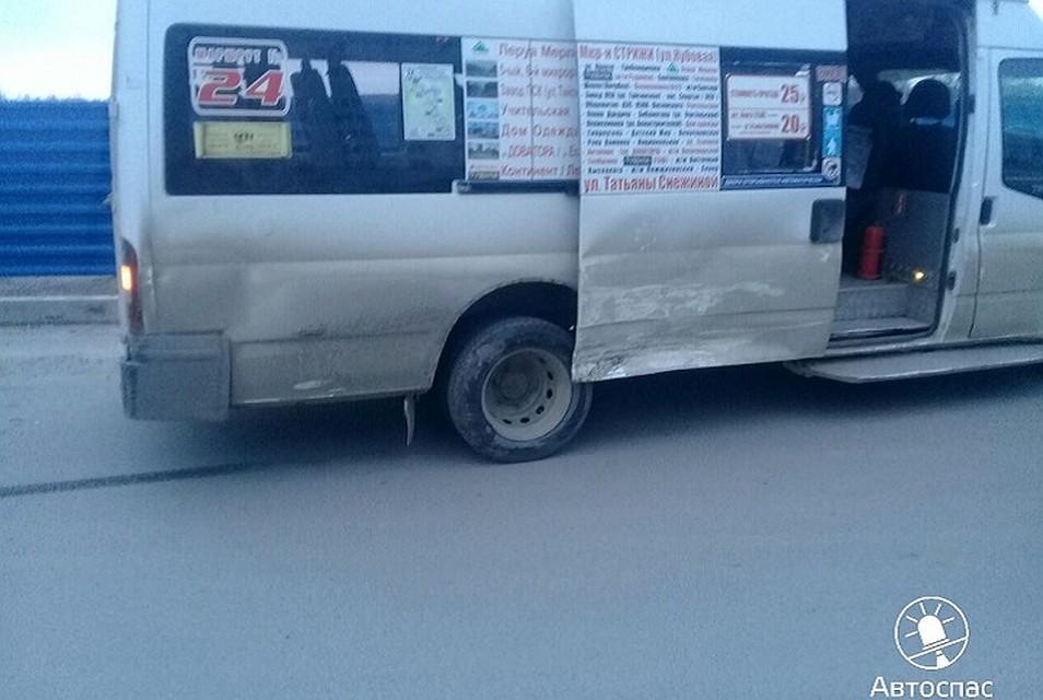 Маршрутка спассажирами невписалась вповорот вНовосибирске— есть пострадавшие