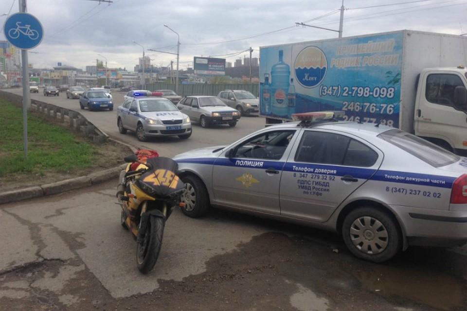 ВУфе двое мотоциклистов пытались исчезнуть от милиции