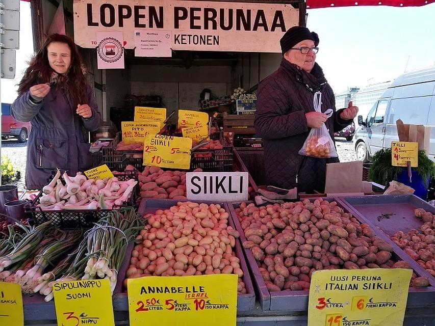 Рынок в центре Хельсинки напоминает вологодский. Но цены...
