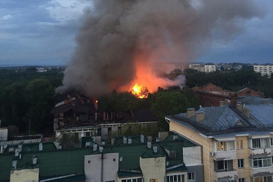 ВИркутске натерритории ИВВАИУ сгорел храм имузей истории училища
