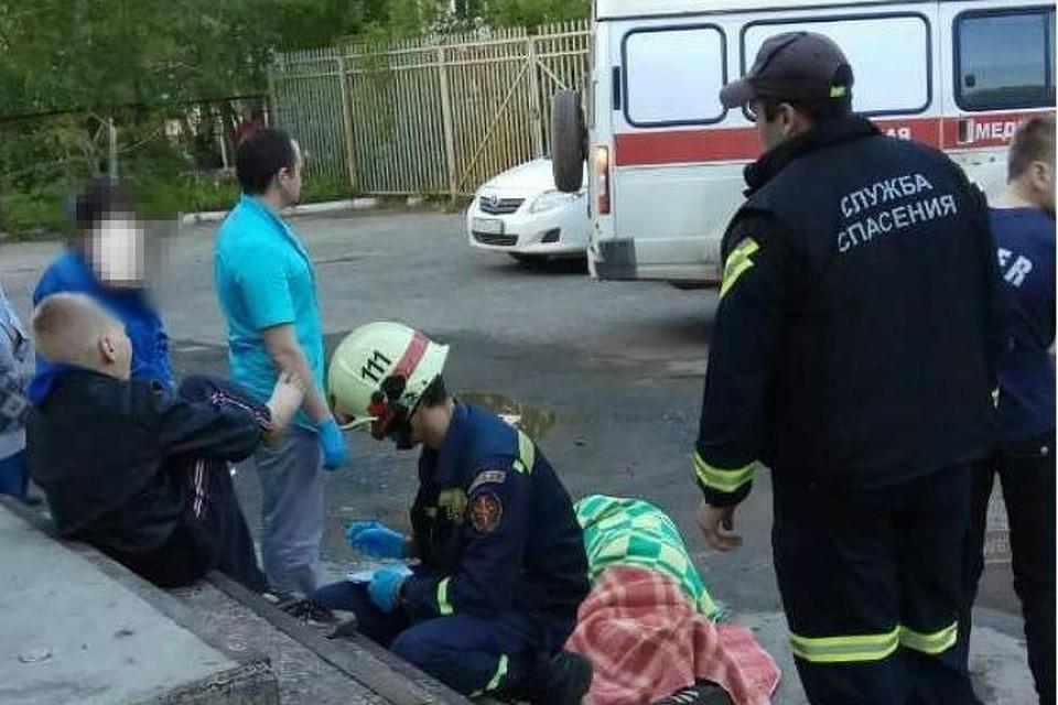 Натерритории пермской клиники №3 надетей упала железобетонная балка