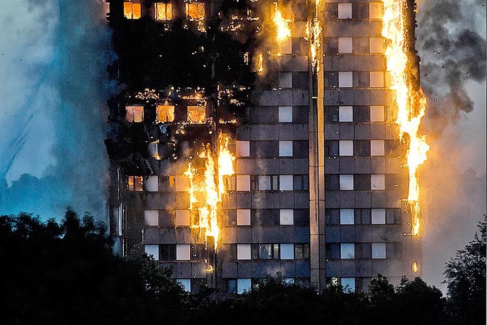 Крупный пожар встолице Англии: полыхает 27-этажный дом, есть жертвы