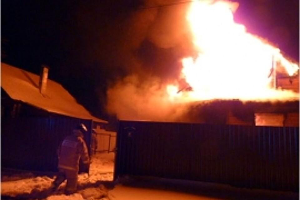 ВТоропце Тверской области сгорел дом