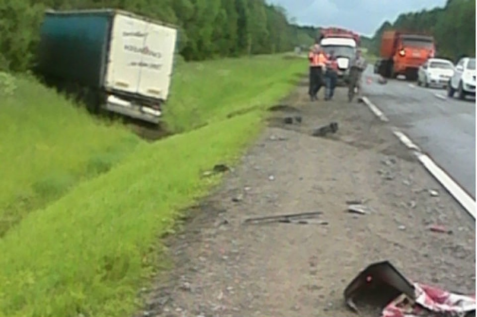 Авария с фургоном натрассе М-8 вЯрославской области