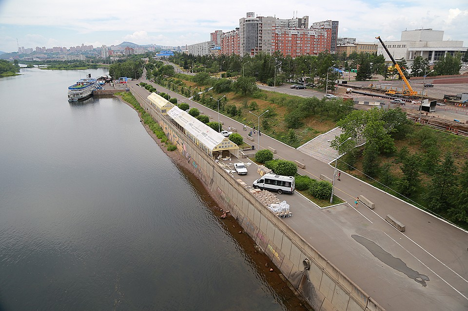 Набережную Красноярска починят за152 млн руб.