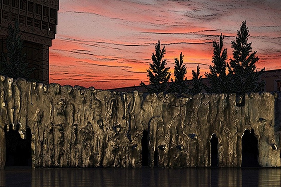 Завтра начнется установка монумента «Стена скорби»