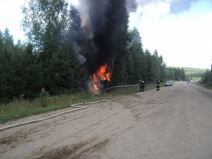 Трое мужчин погибли при пожаре вКизнерском районе Удмуртии