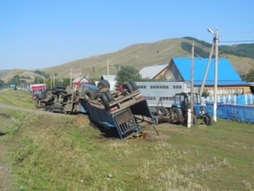 ВБашкирии опрокинулся фургон скоровами