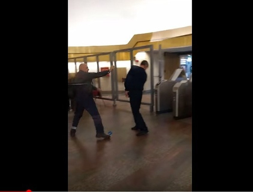 Настанции метро «Обухово» хулиган распылил баллончик, нежелая проходить досмотр