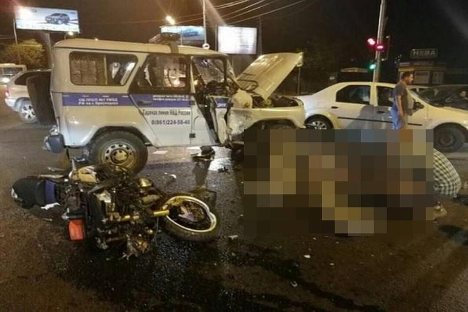 ВКраснодаре случилось жесткое ДТП сучастием мотоцикла, есть жертвы