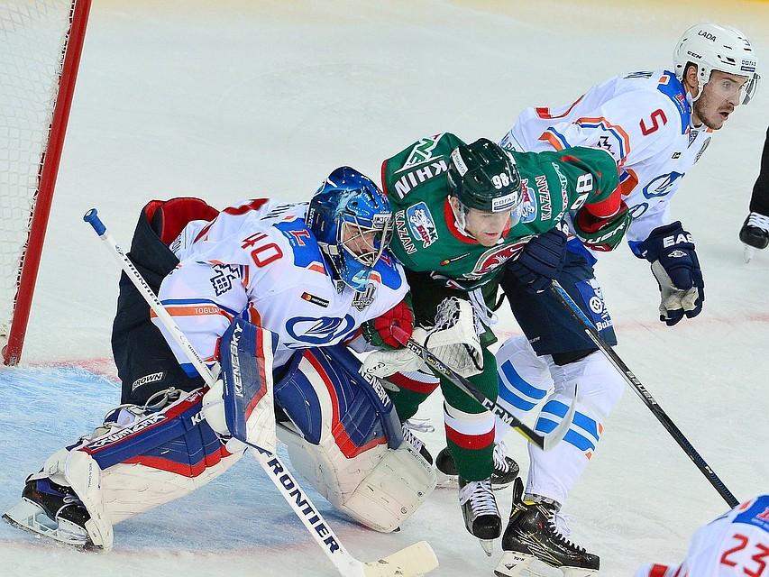 Защитник «АкБарса» Марков забросил первую шайбу после возвращения вКХЛ