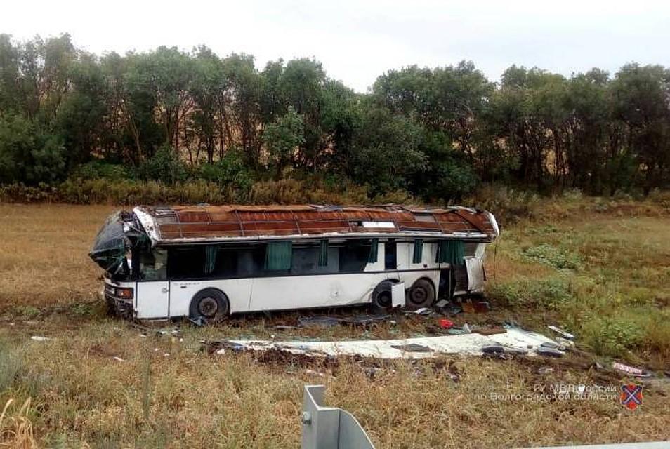 ВВолгоградской области вДТП савтобусом пострадали семь человек