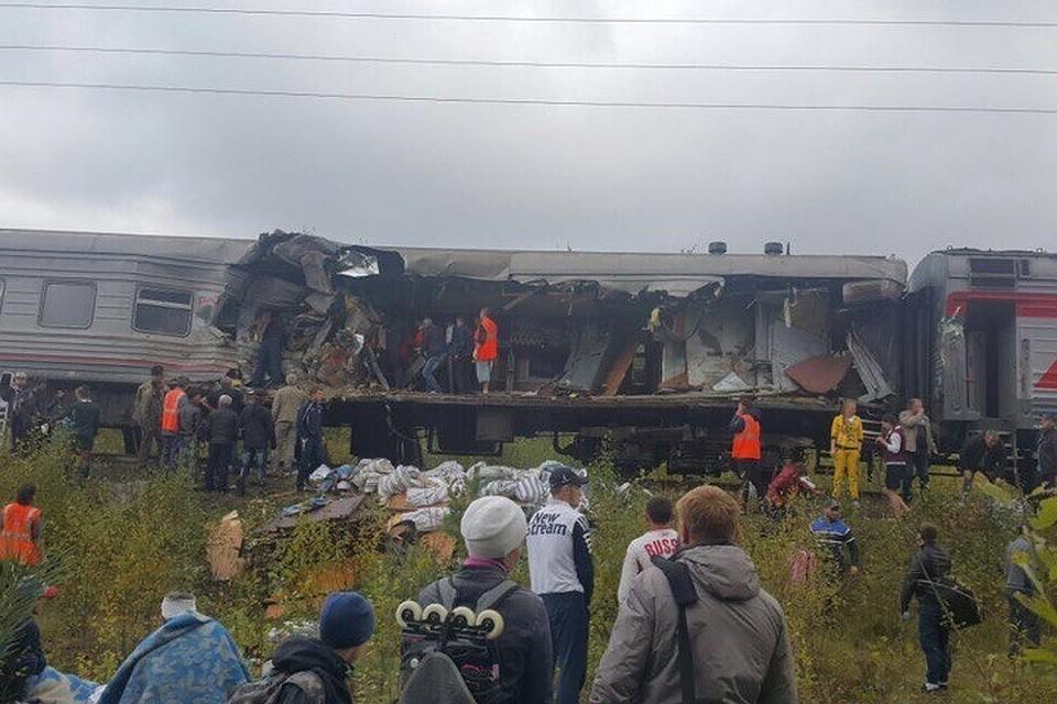 ЧПвЮгре: столкнулись пассажирский поезд иКамАЗ, есть пострадавшие