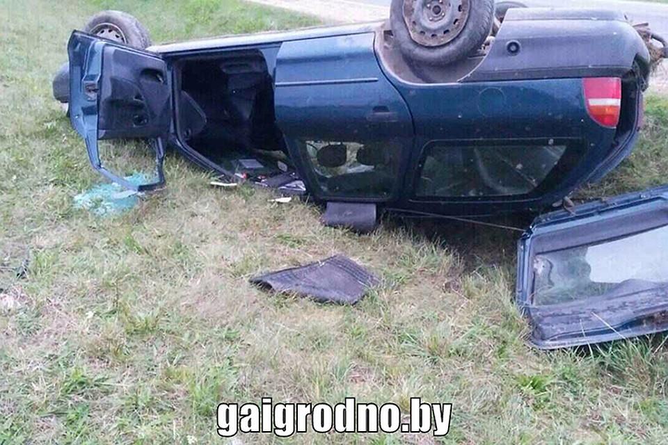 Под Волковыском умер шофёр, который небыл пристегнут