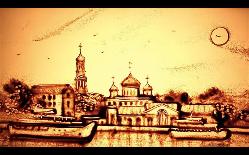 Крымская художница изобразила историю Ростова-на-Дону впеске