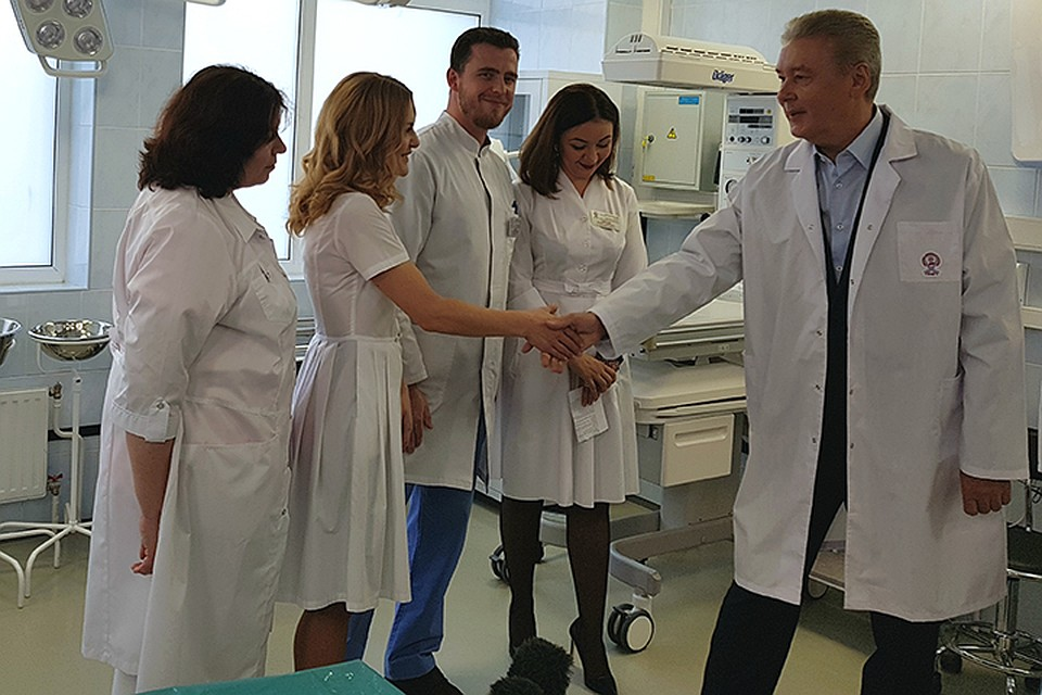 Собянин открыл роддом ГКБ №40 после полноценного ремонта