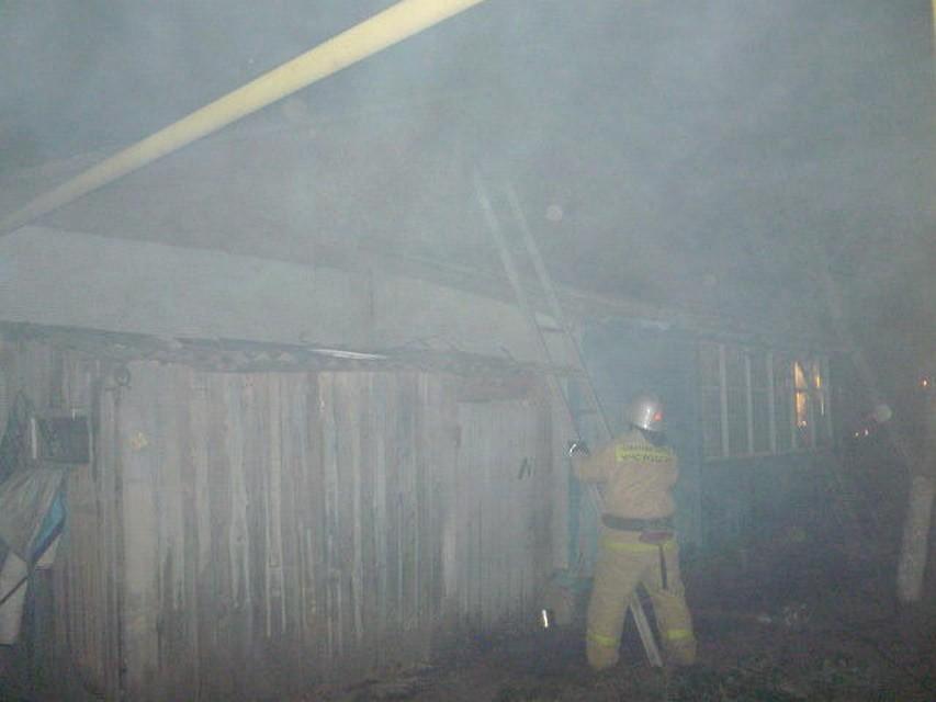 Втульском Заречье сгорел дом