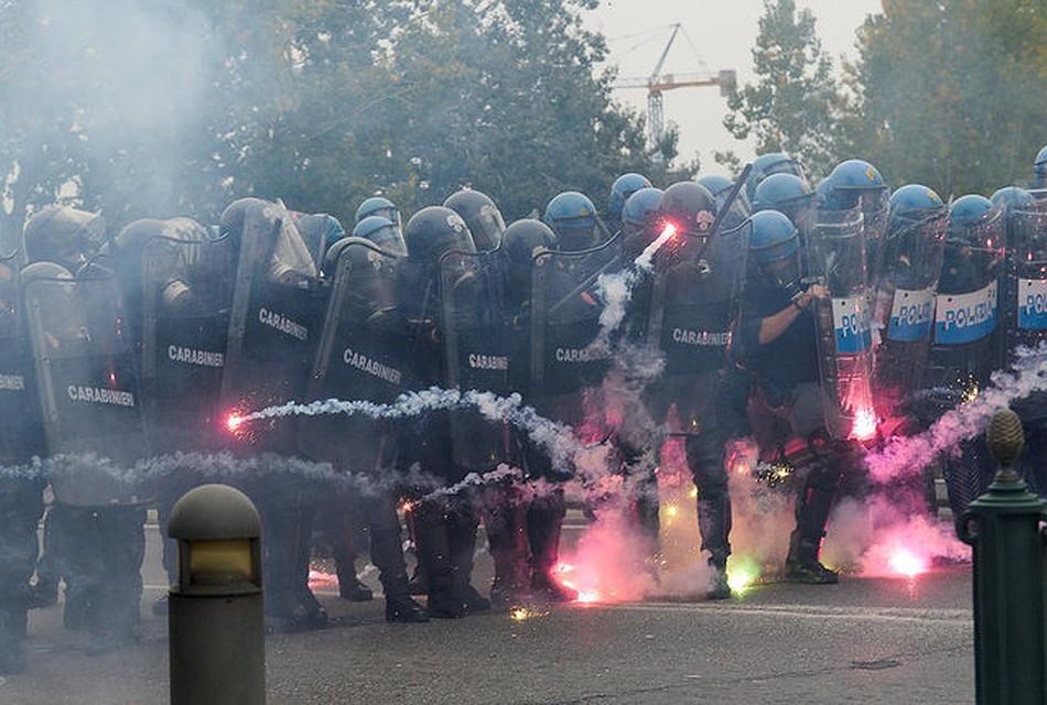 Витальянском Турине проходят массовые протесты против саммита G7