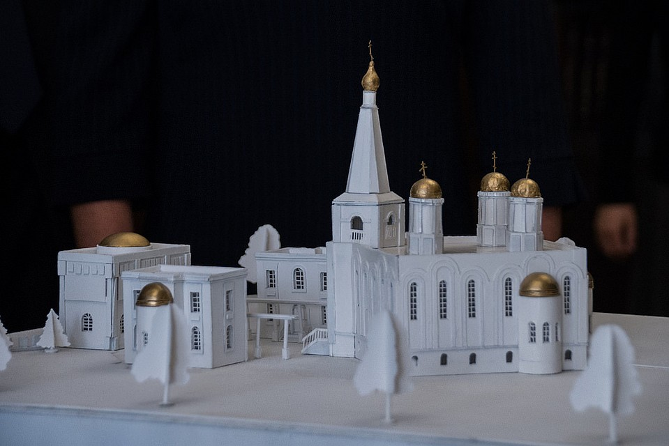 ВКраснодаре реконструируют храм наРождественской набережной
