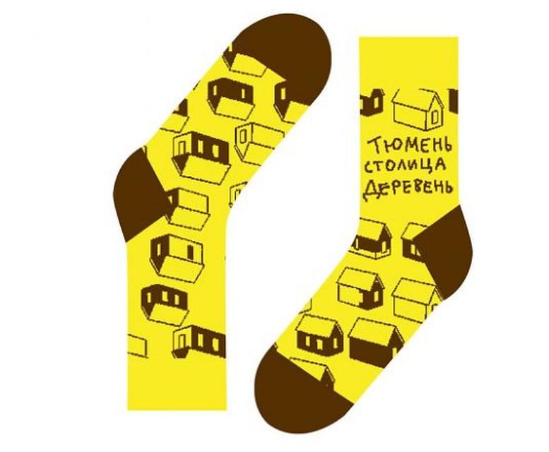 В северной столице наладили производство носков ссимволами Тюменской области