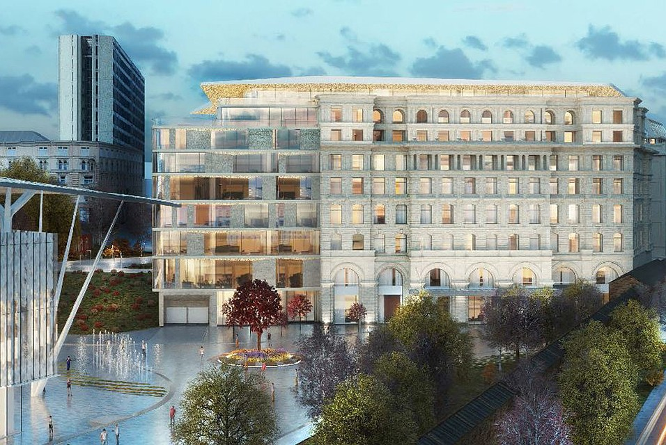 Рядом спарком «Зарядье» построят гостиницу
