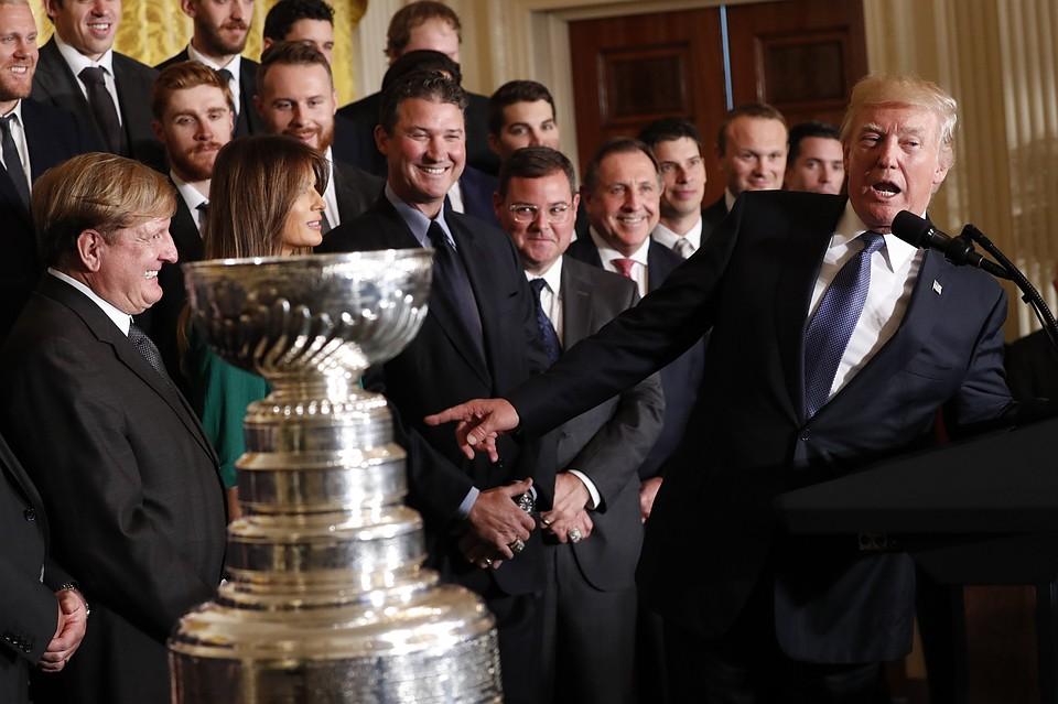 Дональд Трамп назвал русского  хоккеиста Евгения Малкина «крепким парнем»