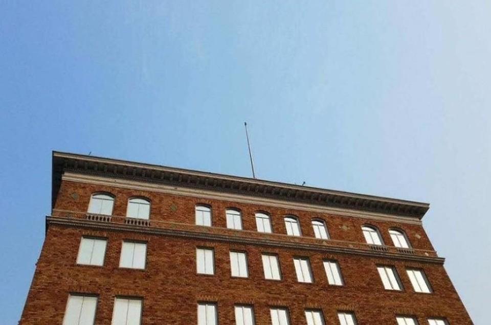 Сторгового представительстваРФ вВашингтоне также сорвали русский  флаг