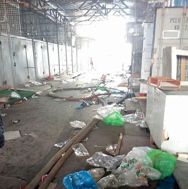 Пофакту пожара нарынке «Темерник» вРостове возбудили уголовное дело