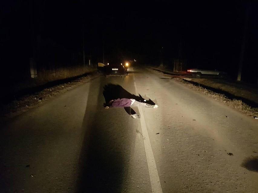 ВЯрковском районе наночной трассе умер пешеход