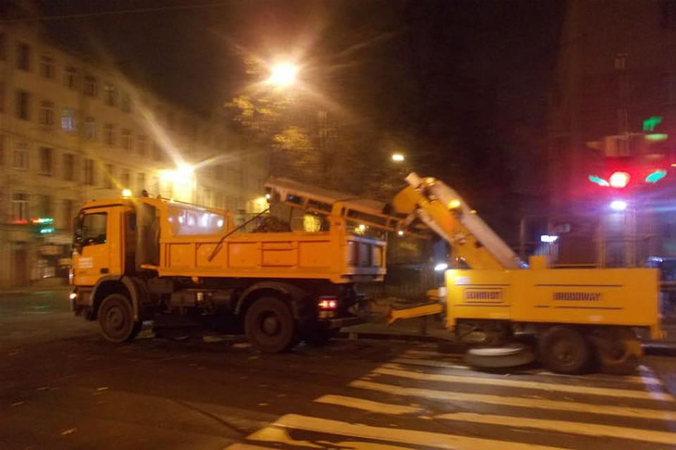 ВПетербурге занеделю надороги вылили 400 кубометров солевого раствора