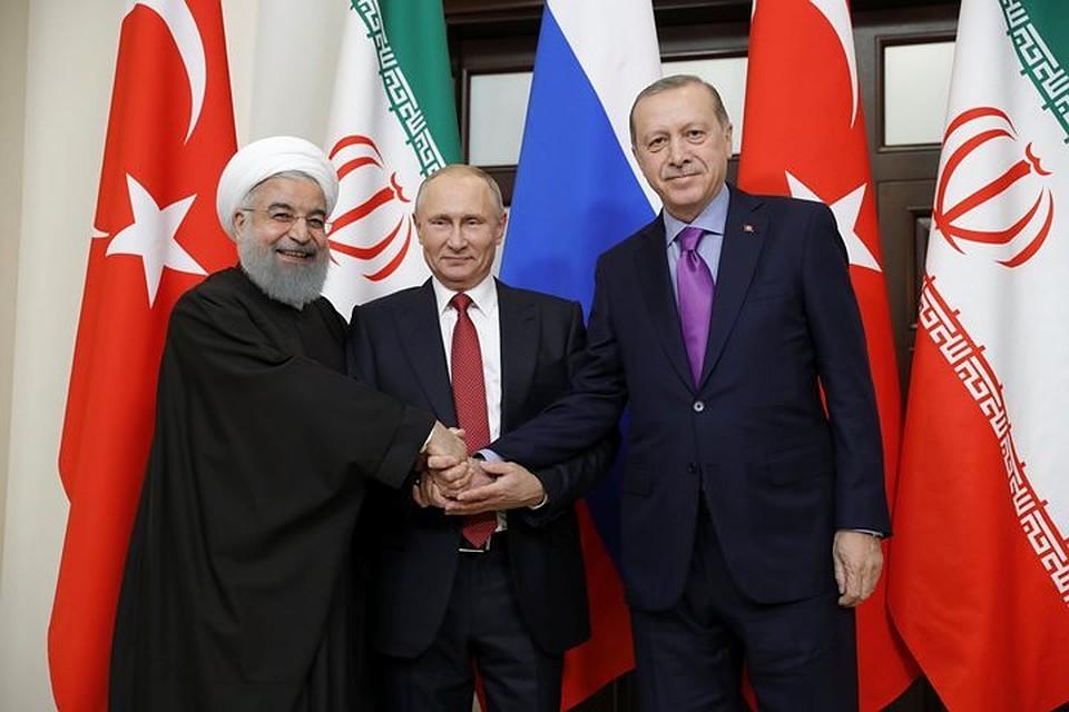 Путин, Эрдоган иРухани согласовали общее объявление поСирии