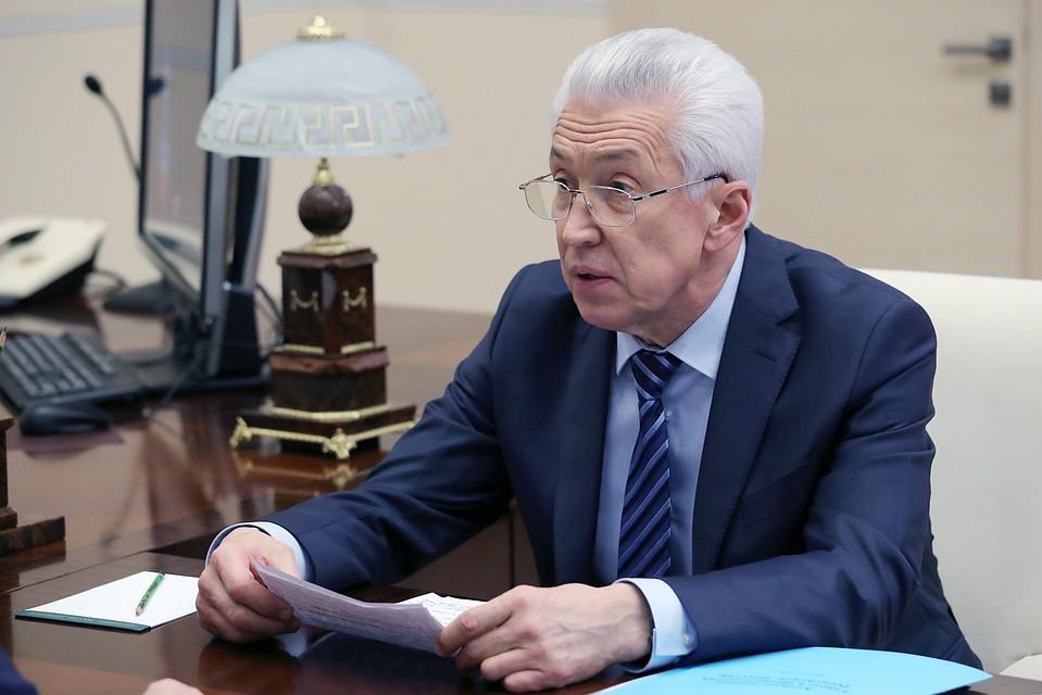 Владимир Путин провел рабочую встречу сВладимиром Васильевым