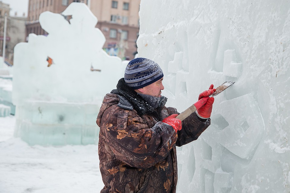 Из-за возведения ледового городка наЧМЗ закрыто движение транспорта