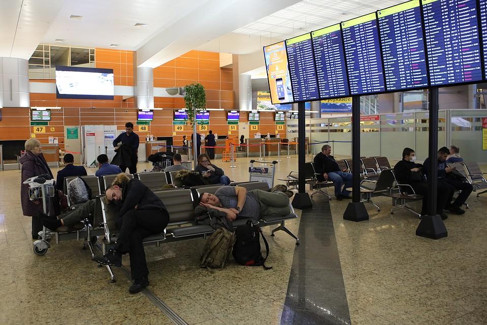 В столичных аэропортах из-за тумана задерживаются 50 рейсов