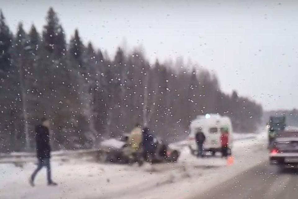 ВПермском крае случилось смертельное ДТП сгорящим автомобилем