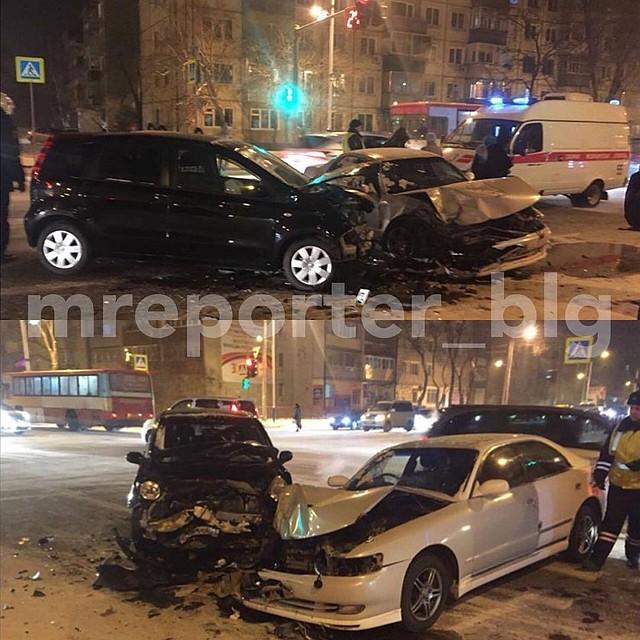 Ребенок умер вДТП наперекрестке улиц Театральная— Зейская вБлаговещенске