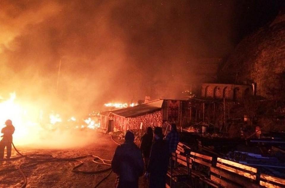 Натерритории мужского монастыря под Бахчисараем произошел пожар