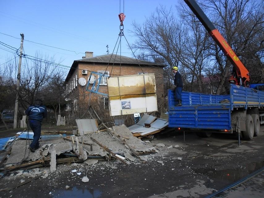 ВКраснодаре снесли работающую несколько десятилетий сапожную мастерскую
