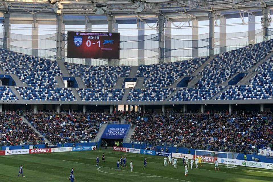 «Олимпиец» проиграл свой 1-ый матч нановом стадионе питерскому «Зенит-2»